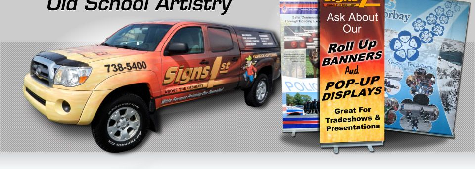 Artistry, vehicle wrap, signs, Ask About Our Roll Up Banners