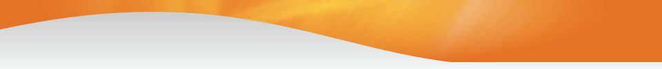 orange and white swirl banner