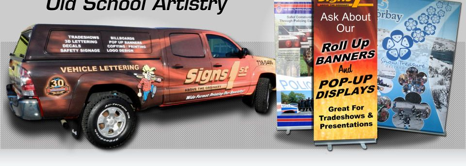 Artistry, vehicle wrap 2, signs, Ask About Our Roll Up Banners